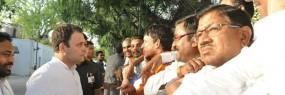 राहुल गांधी मिले ताे सही पर नहीं सुन पाए बात, आजाद से की शहर कांग्रेस की शिकायत