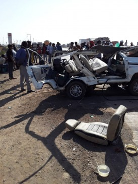 भीषण सड़क हादसे में ड्राइवर समेत 4 यात्रियों की मौत , 5 की हालत गंभीर