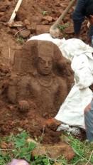 सिंगरौली में मिली कल्चुरीकालीन भगवान विष्णु की दुर्लभ प्रतिमा, ब्राम्ही लिपी के अवशेष