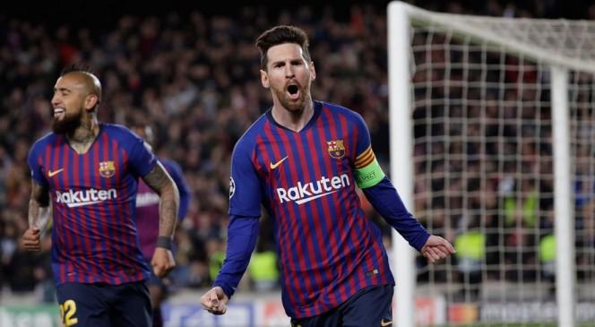 Champions league: बार्सिलोना क्वार्टर फाइनल में पहुंची, मेसी ने दो गोल दागे