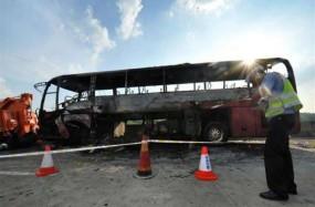 चीन में चलती बस में लगी आग, 26 लोगों की मौत