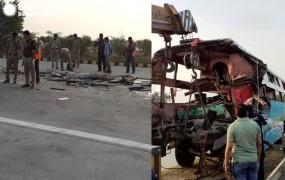 यमुना एक्सप्रेसवे में भीषण सड़क दुर्घटना, 8 लोगों की मौत, 30 घायल