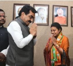 हिमाद्री सिंह भाजपा में शामिल हुई, शहडोल से हो सकती हैं भाजपा उम्मीदवार