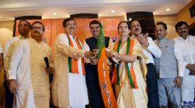 भाजपा में जारी है इनकमिंग, राकांपा-कांग्रेस के भारती पवार और छेड़ा हुए शामिल