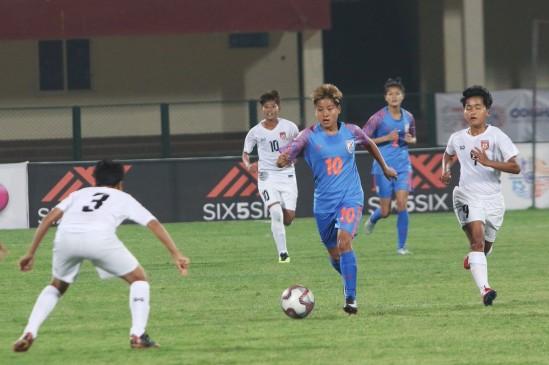 भारतीय महिला फुटबॉल टीम ने तुर्कमेनिस्तान को 10-0 से रौंदा, रोमानिया से अगला मुकाबला