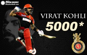 IPL 12: विराट कोहली IPL में 5000 रन बनाने वाले दूसरे बल्लेबाज बने
