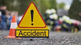 मोटर साइकिल सवार सरपंच को ट्रक ने कुचला, मौके पर मौत
