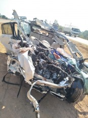 सड़क हादसे में छिंदवाड़ा के कॉन्ट्रेक्टर सहित तीन लोगों मौत ,उत्तरप्रदेश से लौट रहा था परिवार