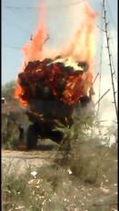 शार्ट-सर्किट से भड़की लगी आग, ट्रॉली में लोड फसल खाक