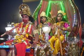 राम नवमीं पर निकली भव्य शोभा यात्रा, जगह-जगह हुआ स्वागत और भंडारे