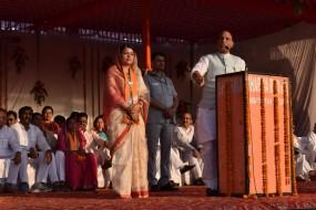 केन्द्र में भाजपा की सरकार बनी तो राष्ट्रद्रोह करने वालों की रूह कांप जायेगी: राजनाथ