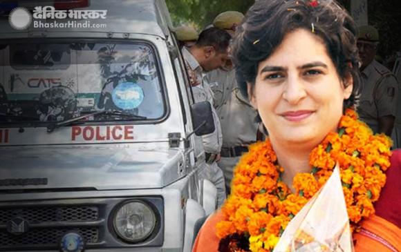 प्रियंका गांधी के काफिले की गाड़ी के नीचे आई महिला सिपाही, अस्पताल में भर्ती