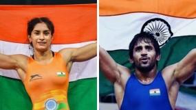 रेसलिंग फेडरेशन ऑफ इंडिया ने खेल रत्न के लिए बजरंग और विनेश का नाम किया प्रस्तावित