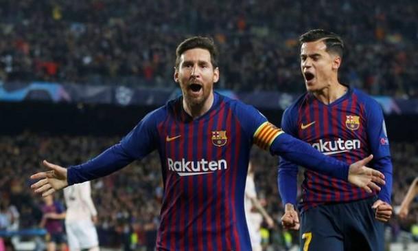 Champions League: बार्सिलोना चार साल बाद टूर्नामेंट के सेमीफाइनल में, मेसी ने 2 गोल दागे