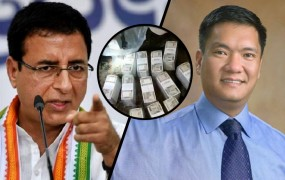 कांग्रेस के 'कैश फॉर वोट' आरोप पर बोले सीएम खांडू, बीजेपी उम्मीदवार की कार से मिले पैसे