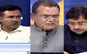 कांग्रेस प्रवक्ता आलोक शर्मा ने खोया आपा, लाइव डिबेट में पानी से भरा ग्लास पटका
