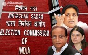 चुनाव आयोग सख्त, आजम, माया, मेनका और योगी के चुनाव प्रचार पर प्रतिबंध