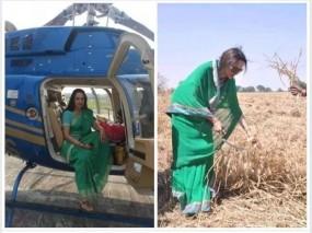 No Fake News: किसानों की हेल्प के लिए हेलीकॉप्टर से पहुंची हेमा
