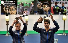 ISSF World Cup 2019: मनु-सौरभ की जोड़ी ने गोल्ड पर निशाना साधा