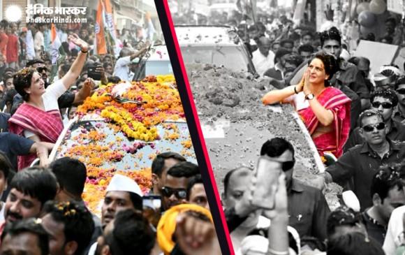 प्रियंका गांधी ने झोंकी ताकत, बिजनौर, फतेहपुर और सहारनपुर में रोड शो