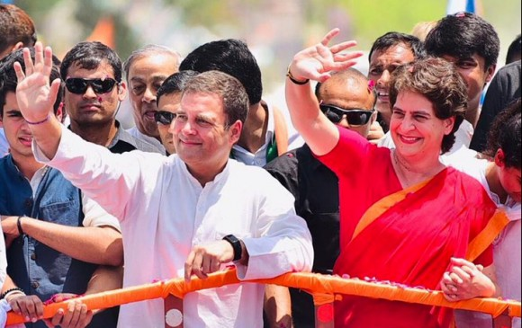 UP: अमेठी में रोड शो के बाद राहुल गांधी ने भरा नामांकन, सोनिया-प्रियंका रहीं मौजूद