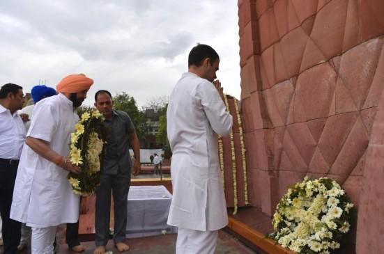 राहुल ने जलियांवाला बाग में दी श्रद्धांजलि, राष्ट्रपति और पीएम मोदी ने भी शहीदों को किया याद