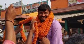 ग्रामीणों ने दिखाए कन्हैया को काले झंडे, समर्थकों ने दौड़ा-दौड़ाकर पीटा