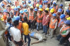 सीमेंट फैक्ट्री में हादसा , मजदूर की मौत -7 घंटे तक चला हंगामा