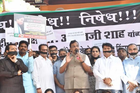 पश्चिम बंगाल में शाह के रोड शो में हुई हिंसा का बीजेपी ने किया विरोध