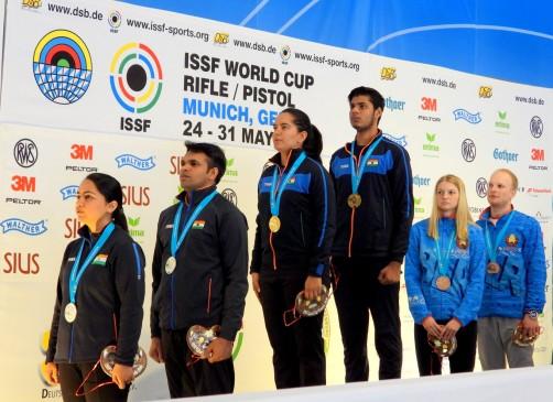 ISSF शूटिंग वर्ल्ड कप में भारत ने किया अब तक का सर्वश्रेष्ठ प्रदर्शन, दो जोड़ियों ने जीता गोल्ड