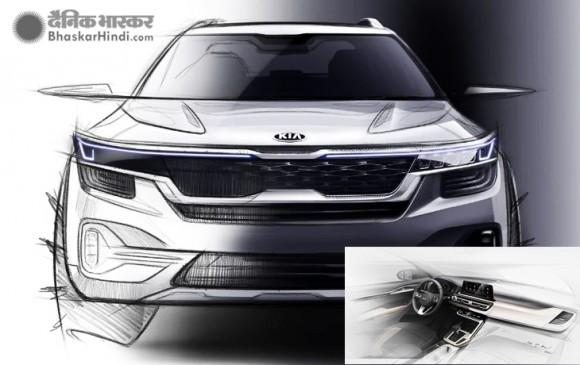 Kia मोटर्स की नई कॉम्पैक्ट SUV का इंटीरियर डिजाइन स्केच जारी