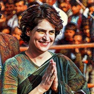 मोदी-मोदी चिल्ला रहे थे लोग, प्रियंका गांधी ने काफिला रुकवाकर सबसे मिलाया हाथ... देखें वीडियो