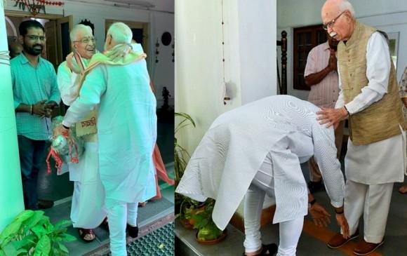 दिल्ली: आडवाणी और जोशी से मिले मोदी-शाह, घर पहुंच कर लिया आशीर्वाद
