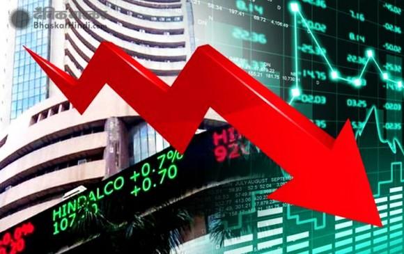 शेयर बाजार गिरावट में बंद, सेंसेक्स 117.77 और निफ्टी 23.10 अंक लुढ़का