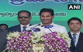 आंध्र प्रदेश: जगनमोहन रेड्डी ने विजयवाड़ा में ली मुख्यमंत्री पद की शपथ
