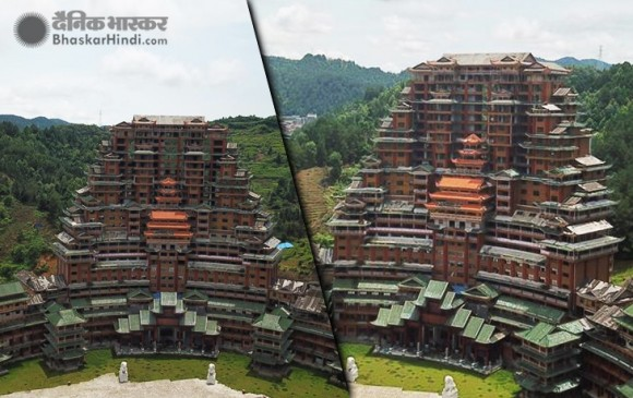चीन में लकड़ी से बनाई गई 24 मंजिला ईकोफ्रेंडली इमारत बनी मिसाल
