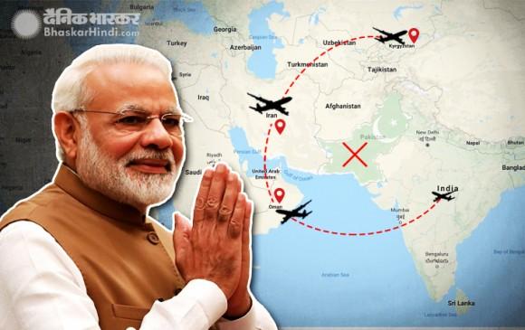 पाक के हवाईक्षेत्र से नहीं जाएगा मोदी का विमान, ओमान- ईरान के रास्ते जाएंगे PM