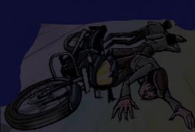 बिजली के खम्भे से टकराई बाइक, सिर पर गंभीर चोट लगने से एक की मौत