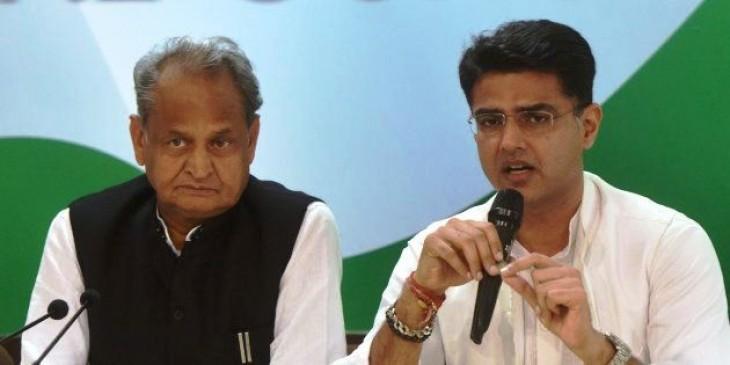 राजस्थान कांग्रेस में अंतर्कलह ! विधायक बोले- पायलट को बनाया जाए सीएम