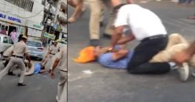 ऑटो ड्राइवर से पुलिस की मारपीट, बदला लेने आए लोगों ने ACP को दौड़ा-दौड़ाकर पीटा