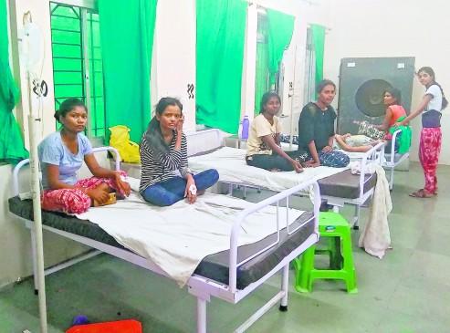 हॉस्टल की 50 छात्राओं को फूड प्वाइजनिंग, अस्पताल में किया भर्ती