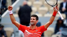 French open 2019: जोकोविच सेमीफाइनल में पहुंचे, थीम से होगी भिड़ंत