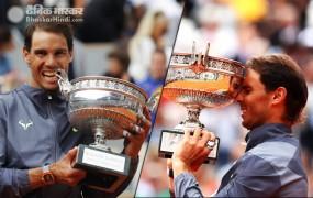 French open 2019: नडाल ने 12वीं बार टूर्नामेंट का खिताब जीता, फाइनल में थीम को हराया