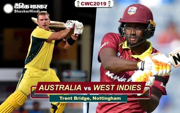 World Cup 2019 : ऑस्ट्रेलिया ने वेस्टइंडीज को 15 रनों से हराया, स्टार्क ने झटके 5 विकेट