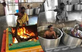 पानी में बैठकर हो रही मानसून के लिए पूजा, रूठे बादलों को मनाने में जुटी कर्नाटक सरकार