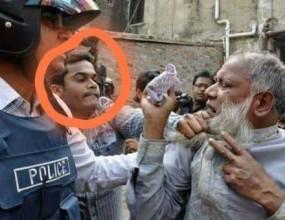 Fake News: क्या बुजुर्ग मुस्लिम की कॉलर पकड़ने वाली फोटो भारत की है ?