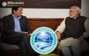 SCO समिट : पीएम मोदी, इमरान खान ने किया एक दूसरे का अभिवादन