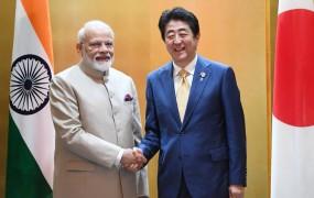 जापान दौरे पर PM, लगे मोदी-मोदी के नारे, शिंजो आबे से हुई मुलाकात