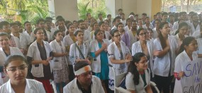 कोलकाता मामले का विरोध - मेयो, मेडिकल में मार्ड के डॉक्टरों ने की सांकेतिक हड़ताल