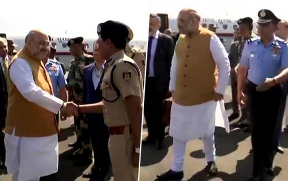 जम्मू-कश्मीर दौरे पहुंचे अमित शाह, सुरक्षा स्थितियों का लेंगे जायजा